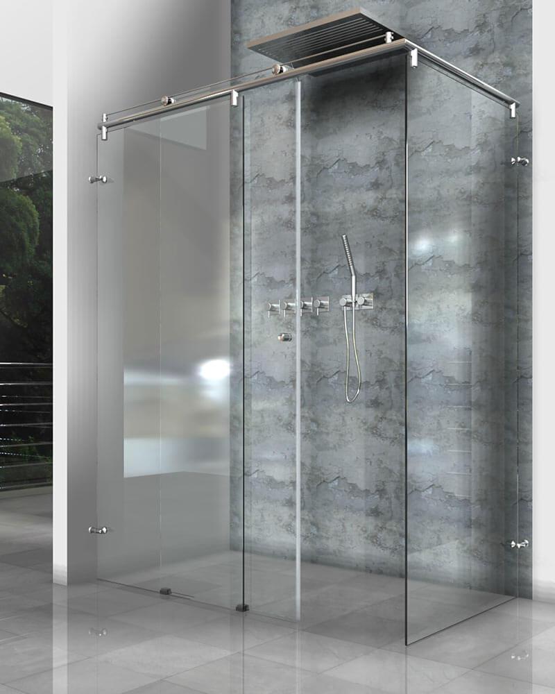 Große Design Glasdusche