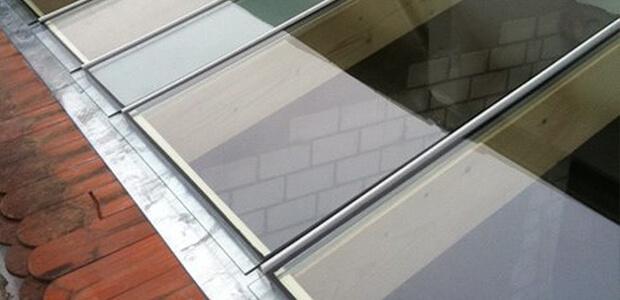 Glasvordach in Berlin von oben fotografiert