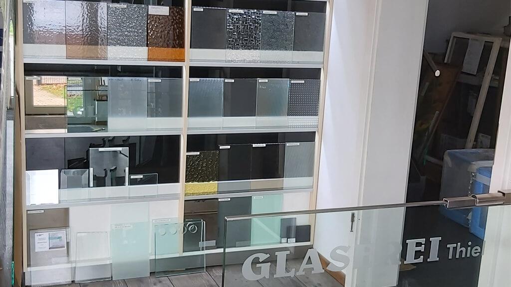 Mögliche Glasmuster und Farben der Glaserei Thiel in Berlin-Köpenick